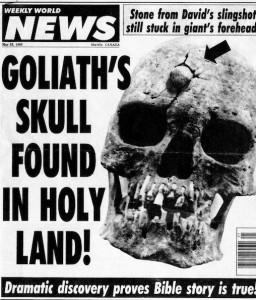 Goliath head found hoax