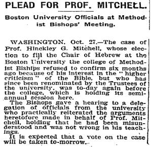 Hinckley G. Mitchell - New York Times, 28 October 1905