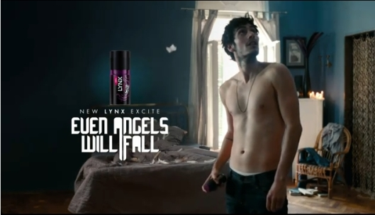 "Click to view the Lynx Excite Advert - ""Even Angels Will Fall"" (1:31)"