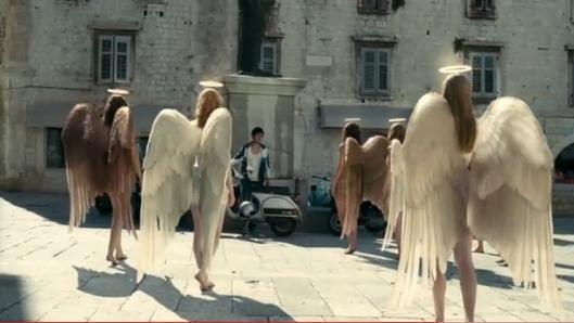 A swarm of fallen angels