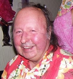 Maurice Casey in Hawaiian shirt