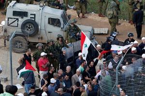 Israel-Syria Border Protest