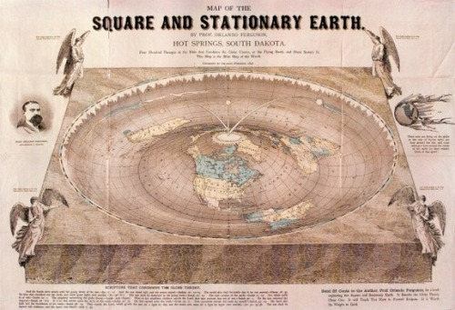 Orlando Ferguson's Flat Earth Map, 1893
