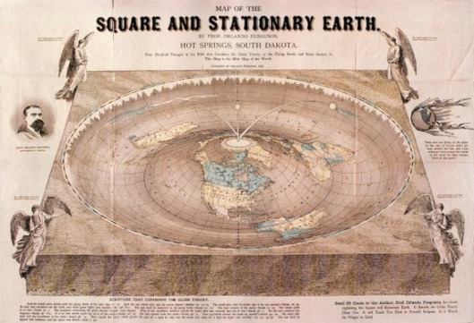 Orlando Ferguson's Flat Earth Map, 1893