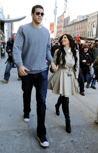 "At 5' 1"" and 6' 9"", Kim Kardashian and Kris Humphries are about the same height as your average Philistine woman and Goliath (per the Septuagint, Dead Sea Scrolls, and Josephus)"