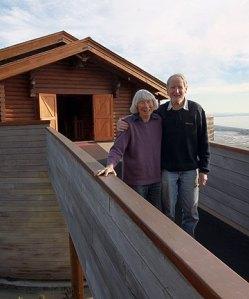 No, not Noah and his wife Naamah - it's Ken and Bev Loader at Christchurch's Gethsemane Gardens