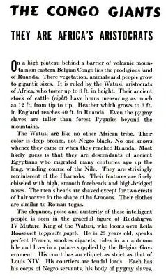 """The Congo Giants: They are Africa's Aristocrats"" (LIFE, 20 June 1938, p. 45)"