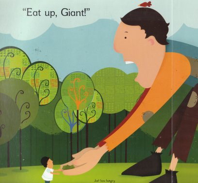 How Do You Feed a Hungry Giant, by Caitlin Friedman, illustrated by Shaw Nielsen