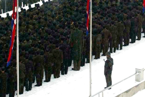 North Korean Giant Soldier at Kim Jong Il's Funeral