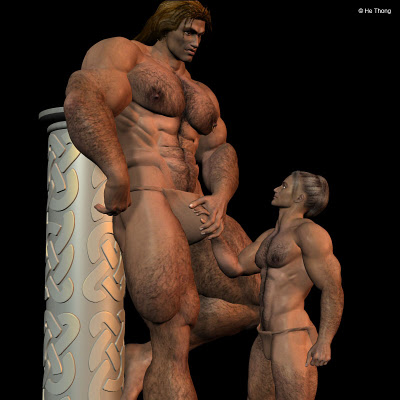 Goliath versus ordinary Philistine man (by He Thong)
