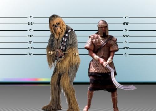 Goliath versus Chewbacca
