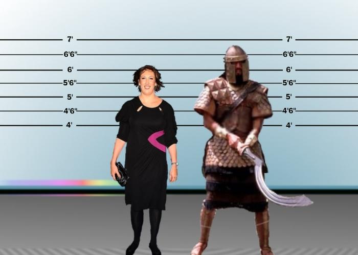 Goliath versus Miranda Hart