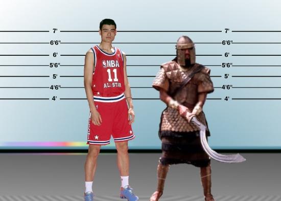 Goliath versus Yao Ming